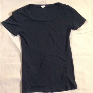 J Crew classic slim fit cotton tee, XXS, black